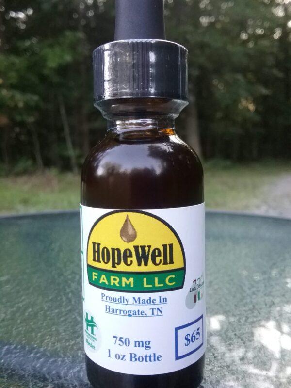 750mg Hemp CBD Oil 1oz Bottle